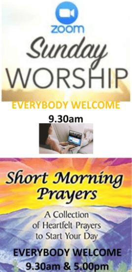 Sunday Worship and Daily Prayer Poster