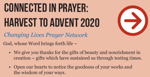harvest to advent prayer