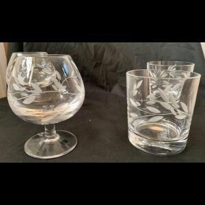 whiskey and cognac glasses