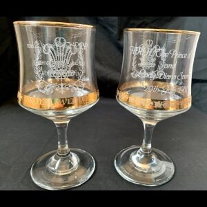 royal wedding glasses