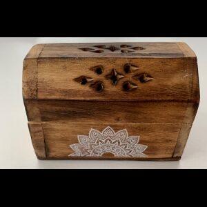 Wooden incense burning box